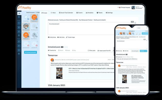 Social media manager - application